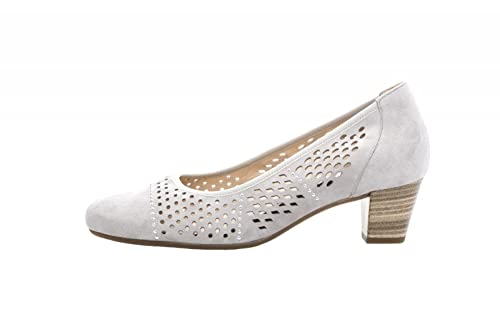 f0e5d4f9bfd544 Gabor Ladies Pumps 86.184.40 Light Gray  Amazon.co.uk  Shoes   Bags