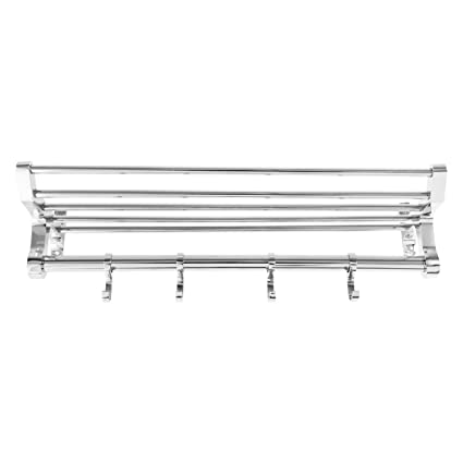 Spartan TR 1501 B-18 Steel 18 Inch Chrome Plated Folding Towel Rack (Silver)