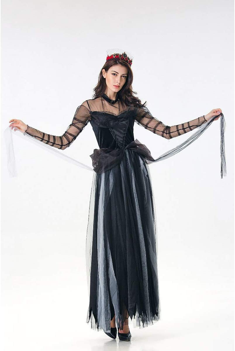 WANLN Bruja Cosplay Disfraz de Miedo Fantasma Novia Disfraz de ...