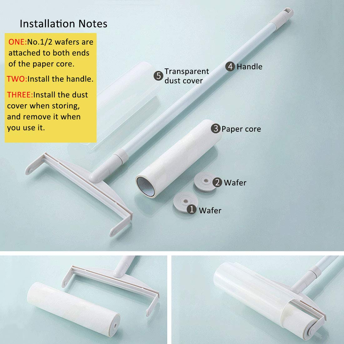 XINGYUE Lint Roller Pet Hair Lint Removers with Long Handle for Clothes Animal Car by XINGYUE (Image #8)
