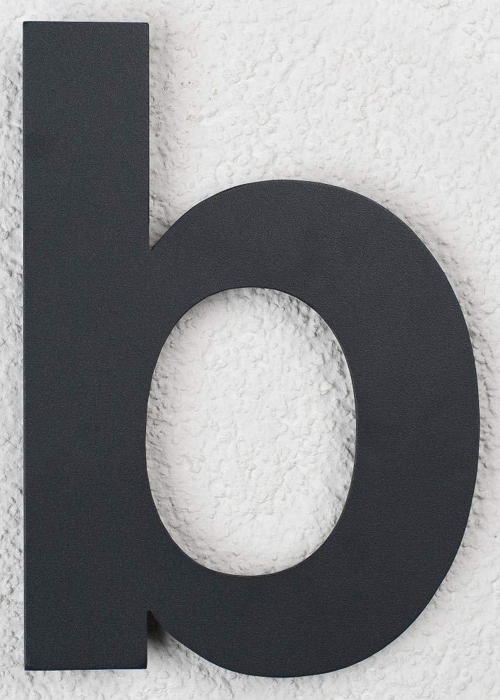 SEM numéro de maison en acier inoxydable enduit de poudre RAL 7016 anthracite b 16cm 160mm gris noir gris foncé moderne SE Metalltechnik