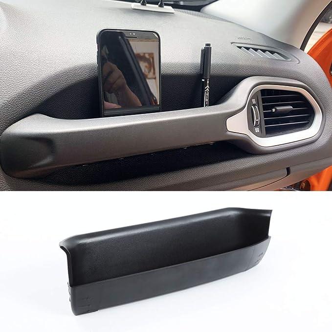DXGTOZA for Jeep Renegade GrabTray Passenger Storage Tray Organizer Grab Handle Storage Box for 2015-2020 Jeep Renegade Black Interior Storage Accessories