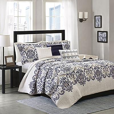 Madison Park Cali 6 Piece Reversible Coverlet Set -  - comforter-sets, bedroom-sheets-comforters, bedroom - 615n087YsHL. SS400  -