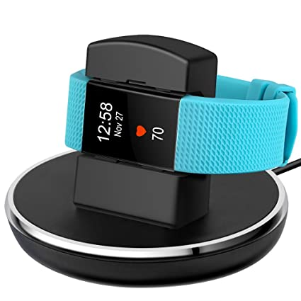 EPULY Compatible with Fitbit Charge 2 Charger, Compatible with Fitbit  Charge 2 Charging Replacement Accessories Stand Dock Station 3 ft Charging  Cable