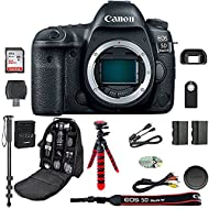 EOS 5D Mark IV Digital SLR Camera Bundle (Body Only) + Professional Accessory Bundle (15 items)