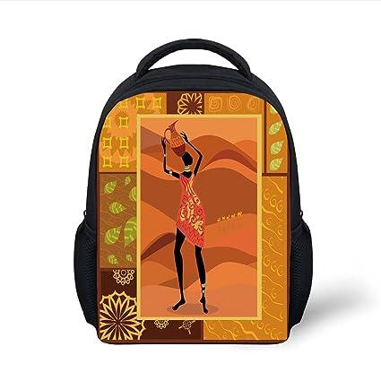 f1ce140382 Amazon.com  iPrint Kids School Backpack African Woman