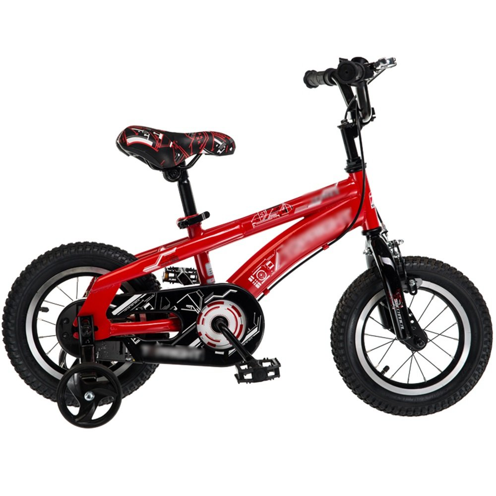 HAIZHEN マウンテンバイク 子供用自転車ベビーキャリッジ12/14/16/18インチマウンテンバイクグリーンレッド高炭素鋼材セキュリティ保護 新生児 B07CG3V4D5赤 18 inch