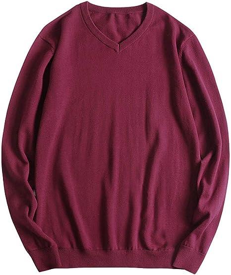 MAOYIYI Knit Suéter para Hombre Hombre Suéter De Básico De Algodón ...