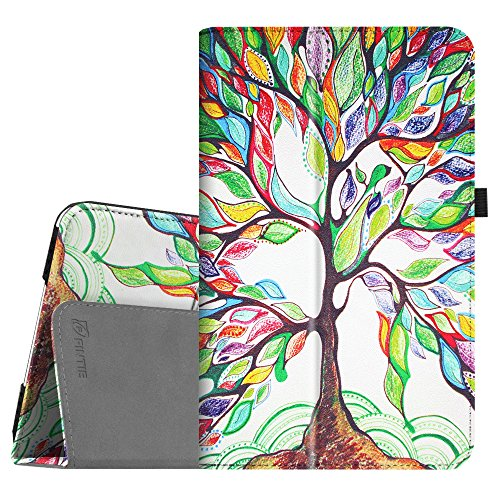 Fintie Folio Case for Samsung Galaxy Tab A 10.1 (2016 NO S Pen Version), Premium PU Leather Slim Fit Smart Stand Cover with Auto Sleep/Wake for Galaxy Tab A 10.1 (SM-T580/T585/T587), Love Tree (Samsung Galaxy Tab 2 Battery Case)