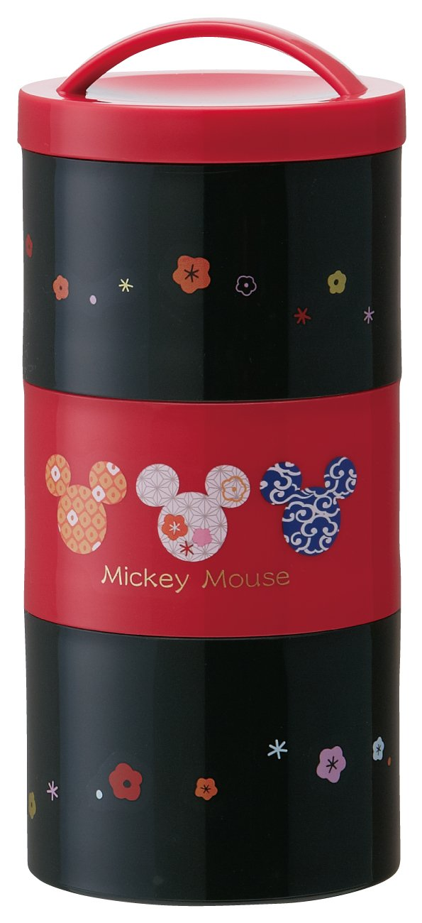 Japanese style Mickey bottle-shaped three-stage lunch box LRT3 (japan import)