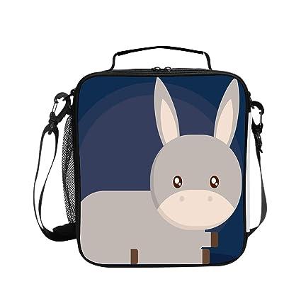 e03c3d43bd91 Amazon.com - Levendem Donkey Cartoon Design Lunch Bag/Lunch Box ...