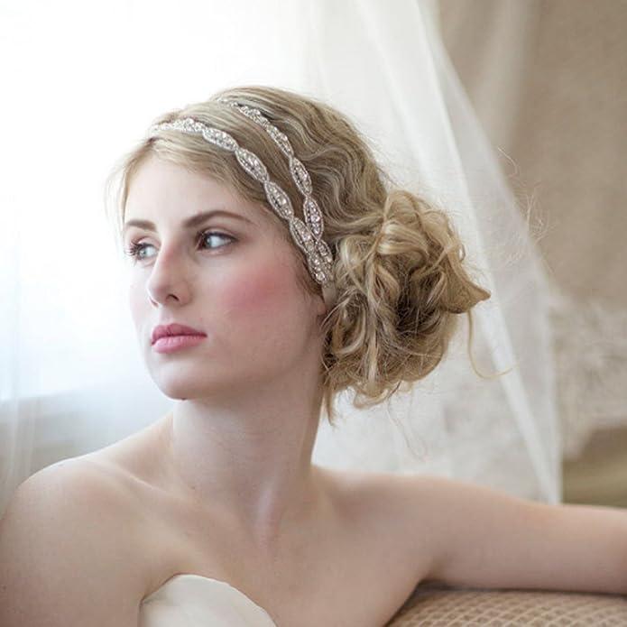 gracewedding Fashion cristales diadema novia boda tocado accesorios: Amazon.es: Joyería