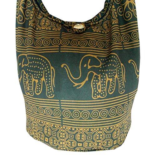 Boho Cotone 6 Borsa Racchetta In Colori Da Marrone Hippy Sacchetto Pelle Elefante Fiore Di Occasione Festival Tennis UYxaqwR