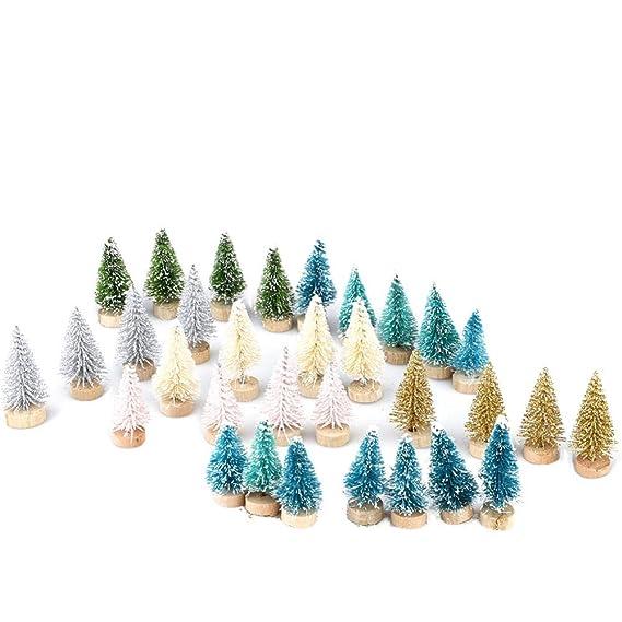 32 Piezas Pequeño Bricolaje Árbol De Navidad Falso Pino Mini ...