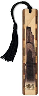 product image for Willis Tower in Chicago Handmade Wooden Bookmark with Tassel
