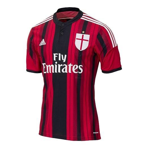 Amazon.com  adidas Men s Soccer AC Milan Replica Home Player Jersey ... 5f538f637