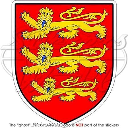 Angleterre Anglais armoiries de badge /Écusson 3/Lions Royaume-Uni 97/mm Bumper Sticker en vinyle 9,9/cm en