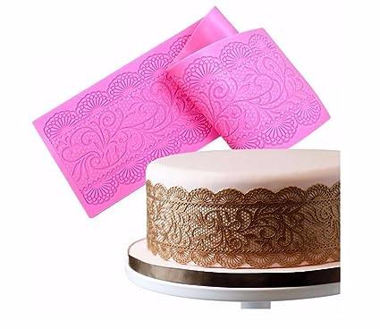 Amazon Com Bakeart Silicone Lace Vines Scrolls Cake Decorating