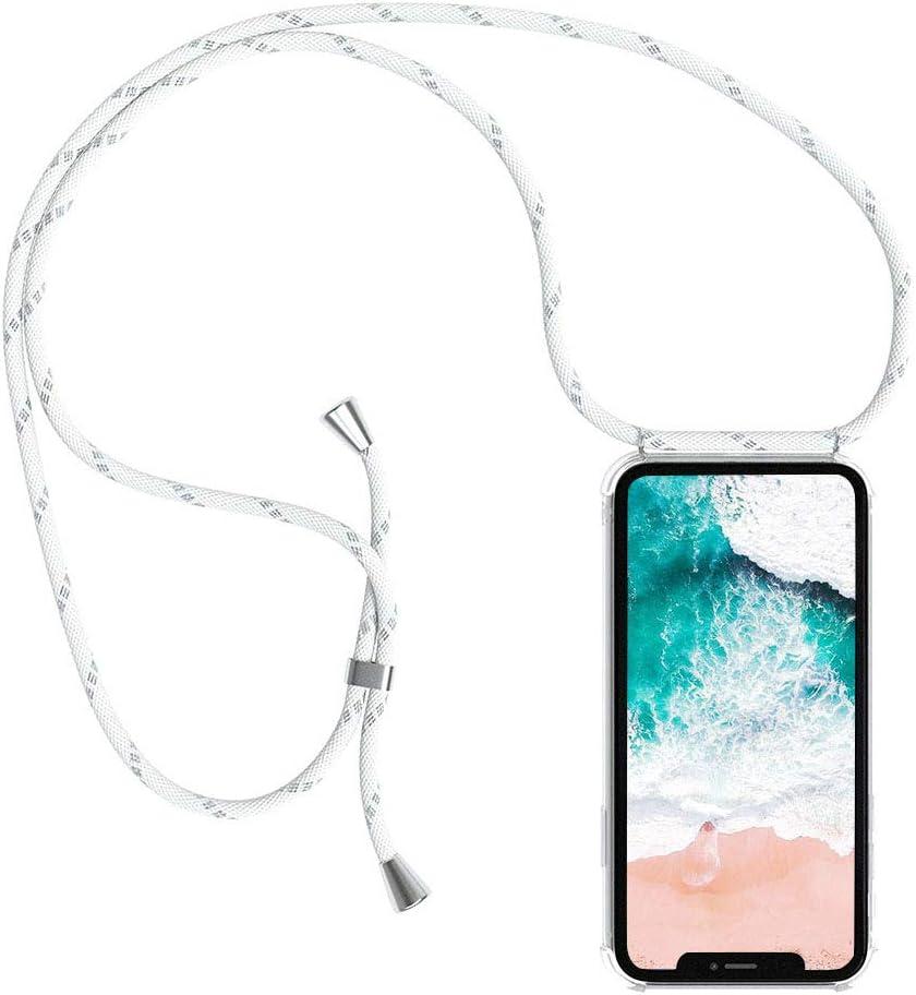 Handykette kompatibel mit Xiaomi Redmi Note 4//Redmi Note 4X Handyh/ülle Smartphone Necklace H/ülle mit Band Schutzh/ülle Kordel zum Umh/ängen Transparent Weich TPU Silikon Tasche Gr/ün Camouflage