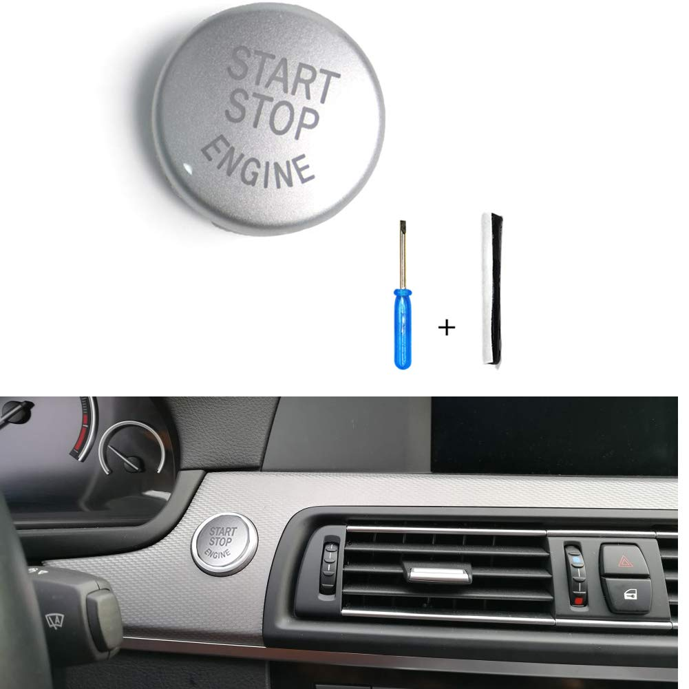 for F Chassis w//o Off Ancher for BMW F10 F15 F16 F22 Red Engine Start Stop Switch Button Cover Without Off Red
