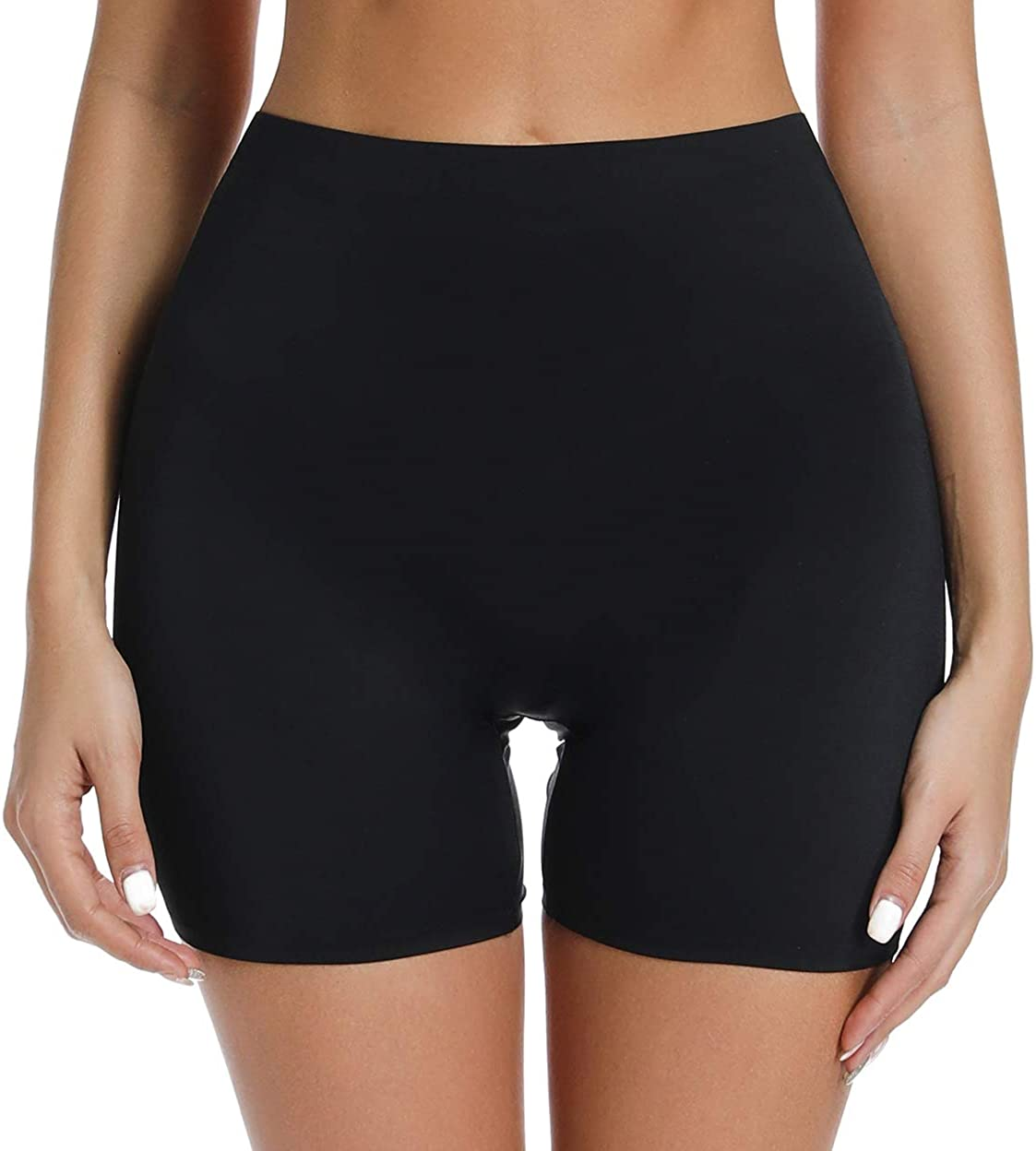 WOWENY Slip Shorts for Women Under Dresses Skirts Mid High Waist Seamless Smooth Panties Boyshorts