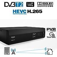 Crypto ReDi 270P 1080P Full HD 1080P DVB-T2 HEVC Decoder Digitale Ricevitore Terrestre sistema Dolby Lettore multemediale (H.265/ MPEG-2/4/ HDMI/ SCART/ PVR/ TIMESHIFT) nero
