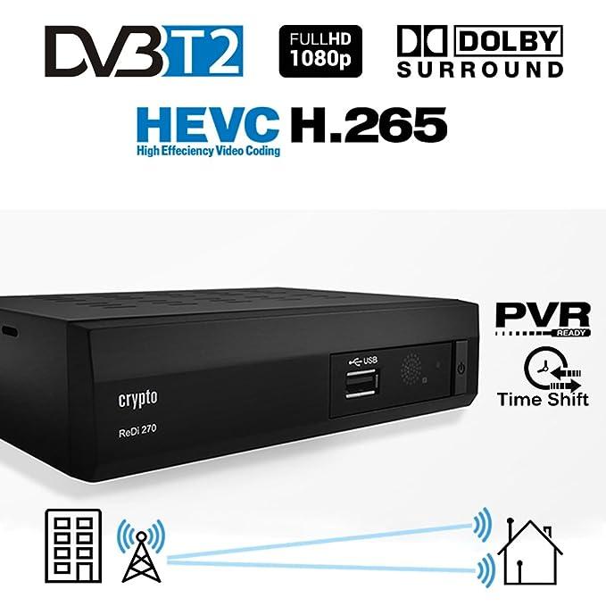 150 opinioni per Crypto ReDi 270P 1080P Full HD 1080P DVB-T2 HEVC Decoder Digitale Ricevitore