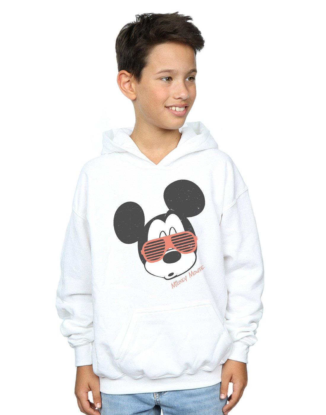 Disney Boys Mickey Mouse Sunglasses Hoodie White 12-13 Years