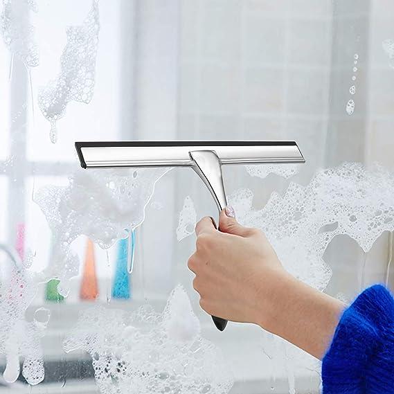 MaxHold no-perforación/sobre la puerta de la ducha rasero-acero inoxidable nunca Rust-para baño y cocina: Amazon.es: Bricolaje y herramientas
