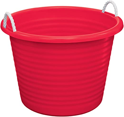 Amazon Com United Solutions Tu0095 Red Seventeen Gallon Tub With Rope Handles 17 Gallon Rope Handle Rough And Rugged Tub In Red Home Kitchen