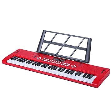 61-Key Teclado para Niños Juguetes Educativos Principiantes Principiantes Instrumento Musical Piano Tres Colores Opcional: Amazon.es: Juguetes y juegos
