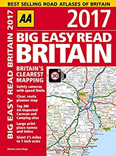 aa big easy read britain 2017 aa road atlas big easy read guides