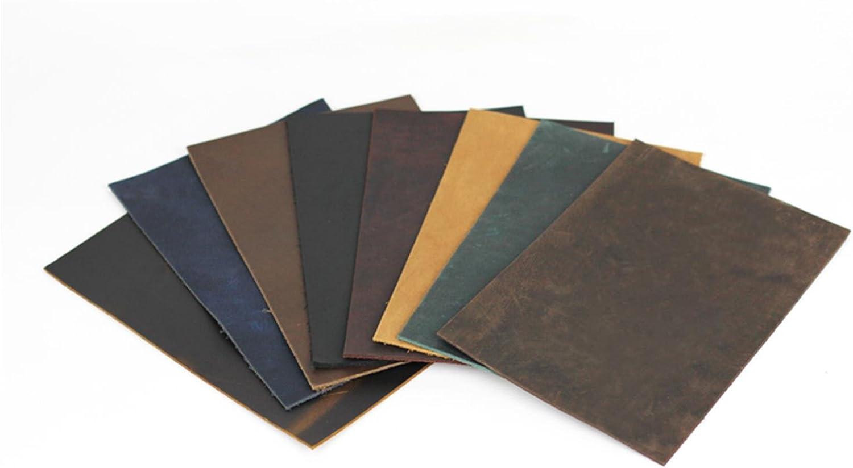 Genuine Vintage Leather Fabric Scrap for Wallet Bag Notebook Craft DIY Brown New