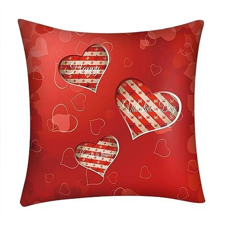 Fundas de Cojines,SHOBDW Regalo de San Valentin Impreso Rojo Lindo sofá romántico Coche decoración