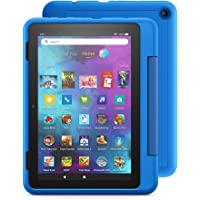 """Introducing Fire HD 8 Kids Pro tablet, 8"""" HD, ages 6–12, 32 GB, Sky Blue"""