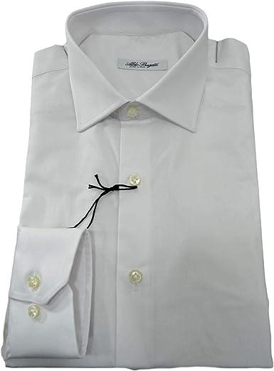 ALDO BUGATTI Camisa hombre regular fit tejido elástico blanco ...