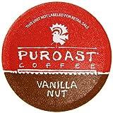 Puroast Coffee Low Acid Vanilla Nut - 12 One Cup Single Serve Coffees - Keurig Compatible, 138gm
