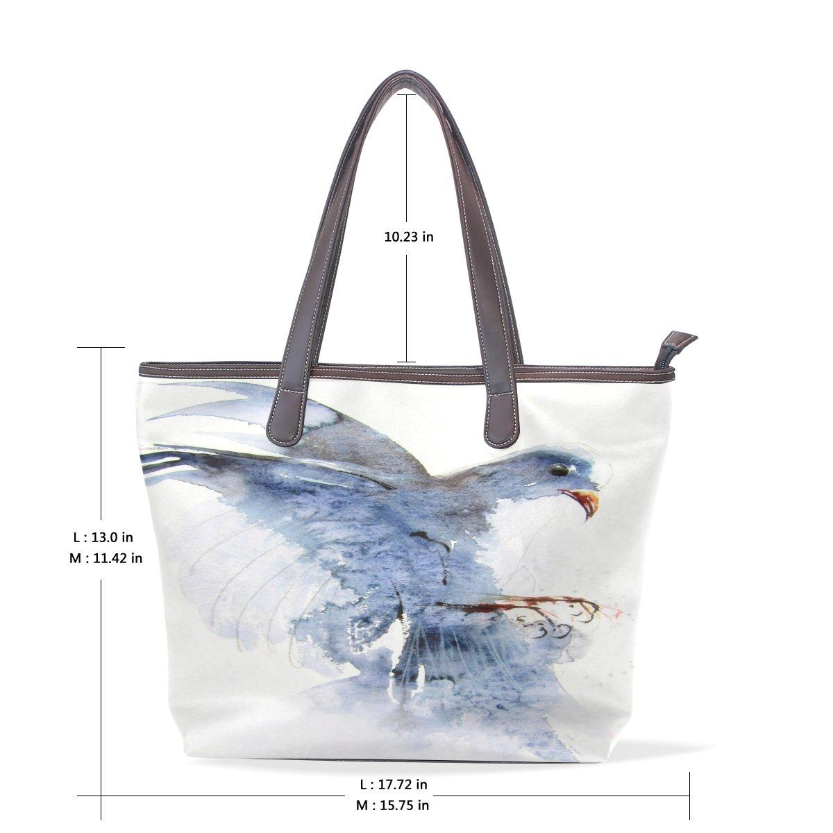 Ye Store Fly The Blue Jays Lady PU Leather Handbag Tote Bag Shoulder Bag Shopping Bag