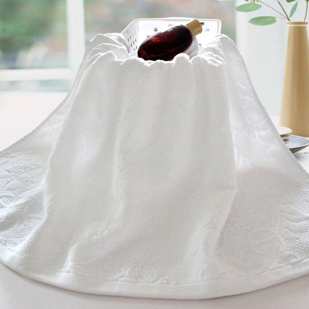 [gruesas toallas blancas]/Adultos baño suave y absorbente toallas algodónToallas Hotel de algodón/blanca toalla gruesa-A: Amazon.es: Hogar