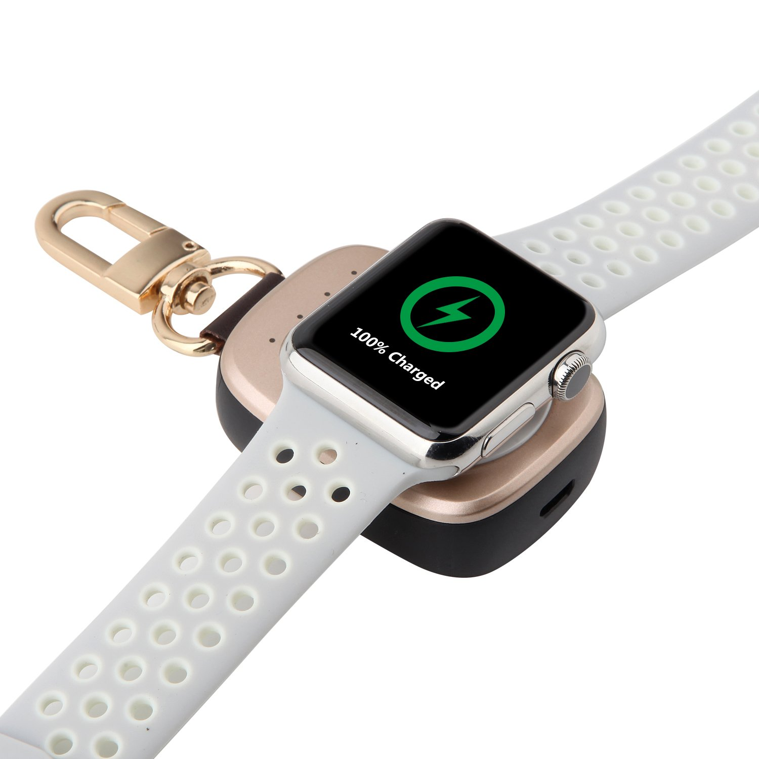 For Apple Watch Charger, VODKE Portable Wireless Apple Watch Magnetic Charging Stand for Apple iWatch Series 3 / series 2 / Series 1 / 42mm / 38mm Rose-gold