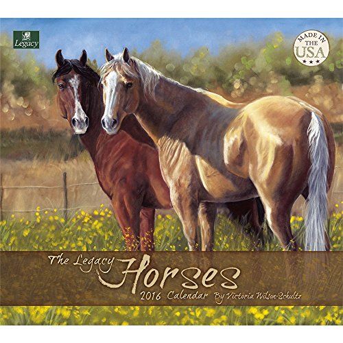Legacy Publishing Group 2016 Mini Wall Calendar, Horses (MCA19499)