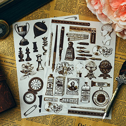 Scrapbook Vintage Style Scrapbooking Happy Planner Craft Vintage Style Delicate Things Rub On for Scrapbooking Happy Planner/Card Making/Journaling Project ()