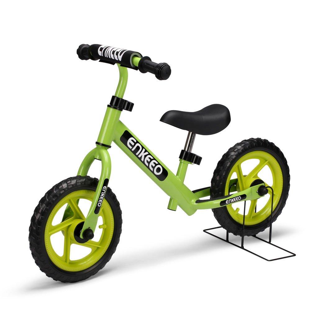 Enkeeo Bicicleta sin Pedales Bicicleta Infantil de Equilibrio Para ~ Años Niños
