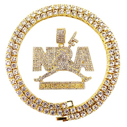67dc5a58c6f4b HH Bling Empire Mens Iced Out Hip Hop 14K Gold Artificial Diamond NBA  Basketball Related Pendant