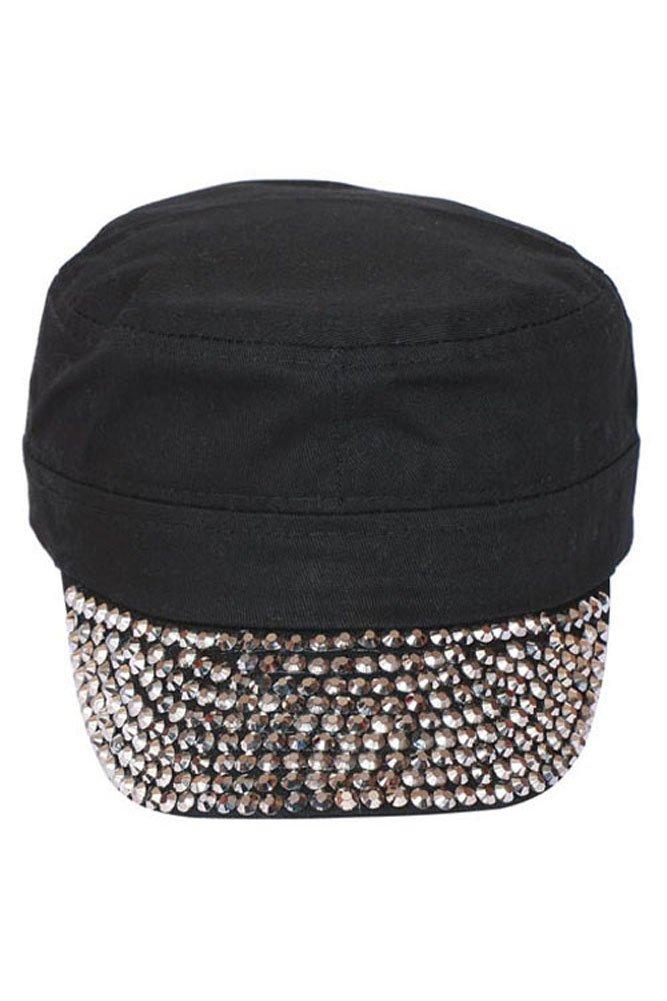 SS/Sophia Studded Cadet Cap - Black