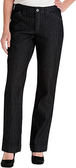 LEE Womens Plus Size Comfort-fit Kassidy Straight-Leg Pant