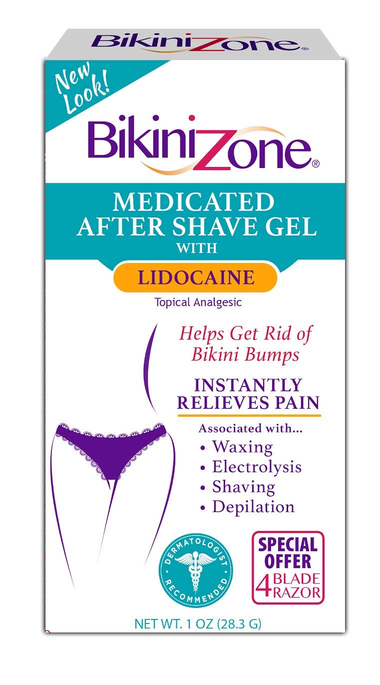 Bikini Zone Medicated After-Shave Gel, Anti-Bumps, 1 oz (28 g) (Pack of 3) by Bikini Zone
