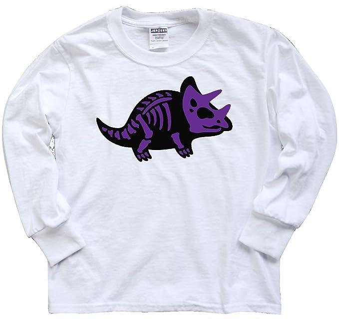 1e3156aa Amazon.com: inktastic - Dinosaur Triceratops Skeleton Youth Long Sleeve T- Shirt 2bd21: Clothing