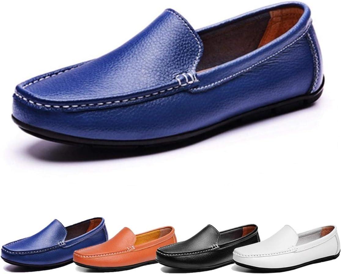 HILOTU Herren Loafers PU Leder Formelle Business Schuhe