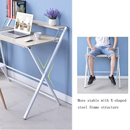 Amazon.com: WLJ-ZDZ Folding Table Home Portable Desktop ...